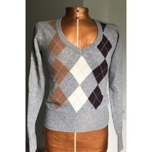 NWT Lambswool Argyle Sweater